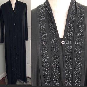 Vintage 70s rhinestone formal gown
